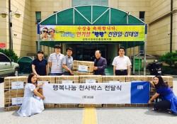 ㈜미래, 김천시장애인종합복지관 찾아 행복나눔 천사박스(선풍기) 전달